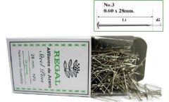 Alfileres de acero REGAL N°3 X 25 gramos