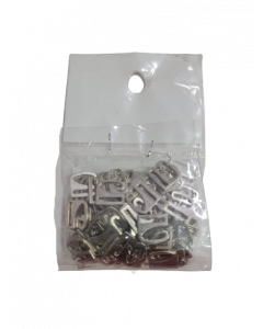 Broches para bretel B12 x 100 unidades metalicos