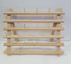 Soporte de hilos de madera para 30 conos