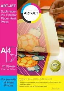 Papel de sublimacion ART JET X 100 hojas A4