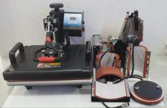 MASTER DM810B estampadora multifuncion 8 en 1 (4 tamaños de tazas, 2 tamaños platos, gorras y plano 38x30cm)
