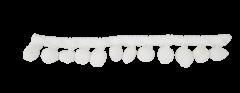 Galón pompón blanco 17mm x 25mts