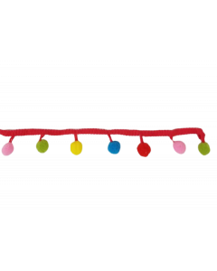 Galón pompones de colores