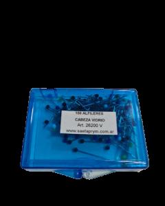 Alfileres cabeza de vidrio SAETA x 100 unidades